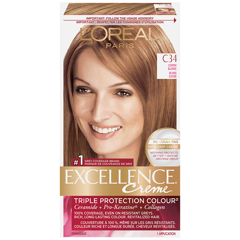 L'Oreal Excellence Creme - C34 Copper Blonde