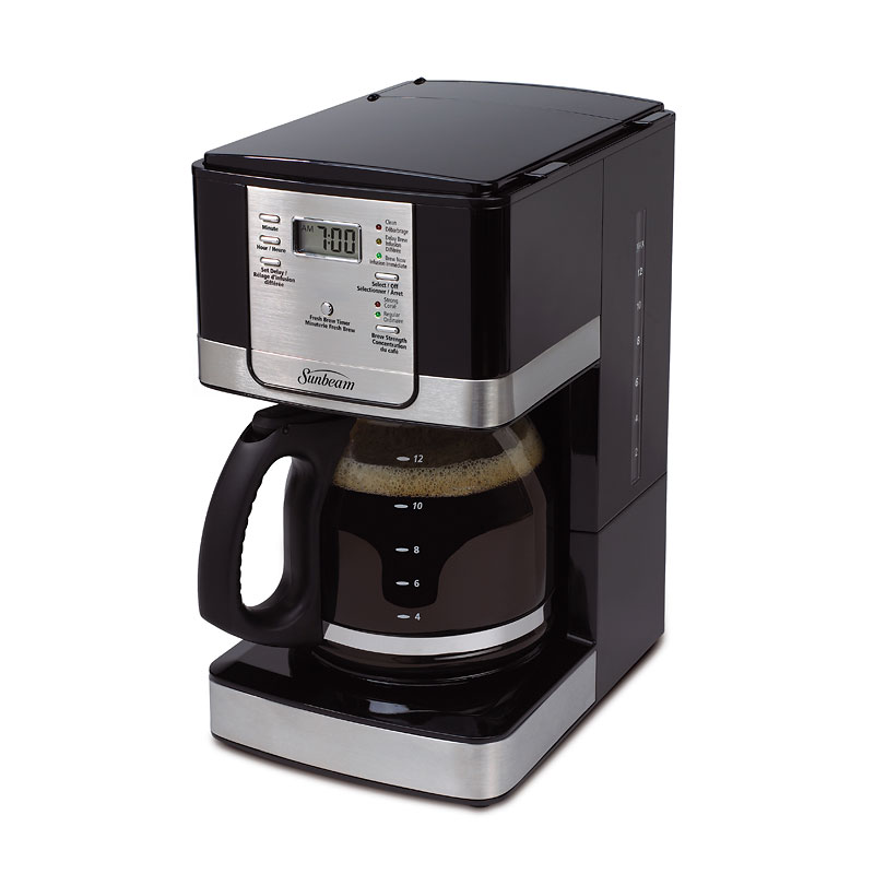 Sunbeam Programmable Coffee Maker - Black/Stainless - BVSBJWX27-033