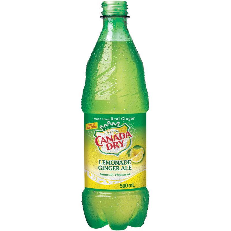Canada Dry Ginger Ale - Lemonade - 500ml