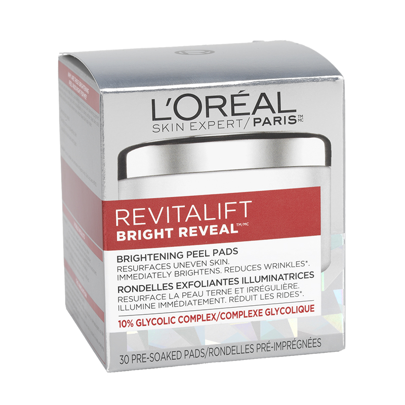L'Oreal Revitalift Bright Reveal Brightening Peel Pads - 30's