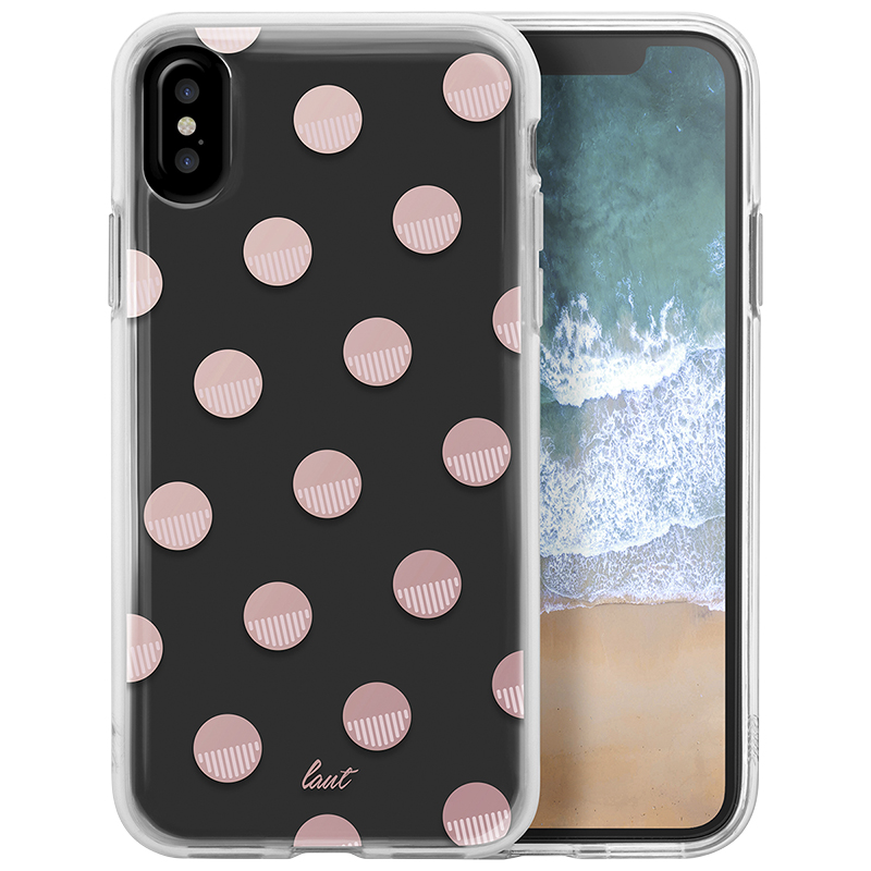 Laut Fashion Case for iPhone X - Polka Pink - LAUTiP8POPPK