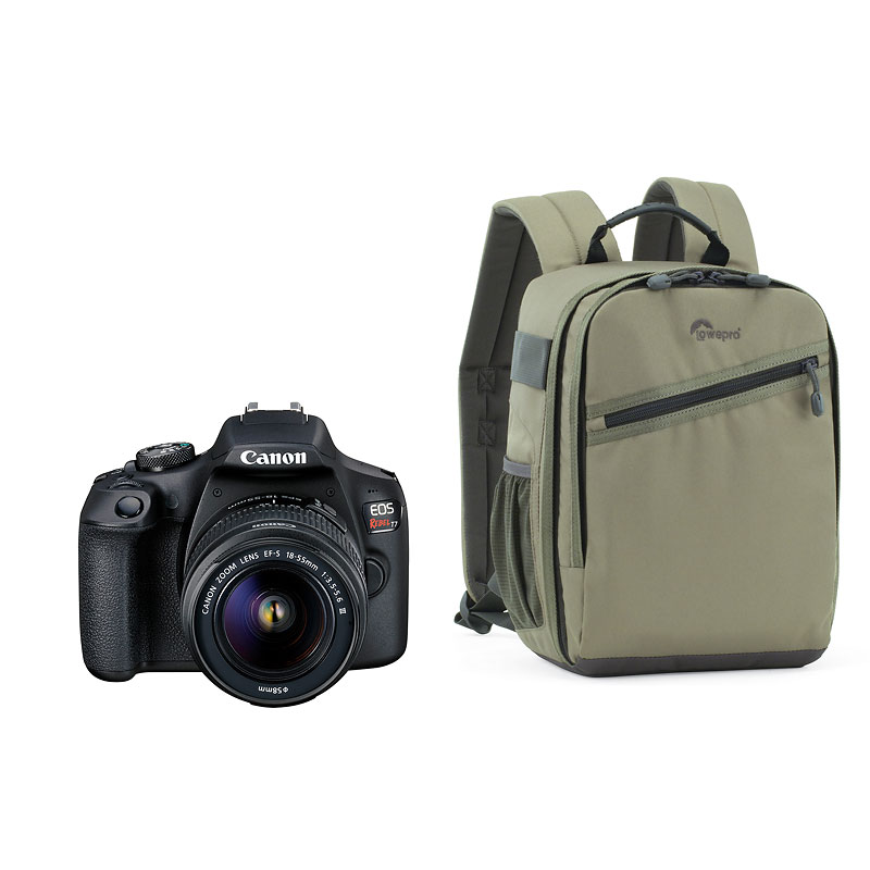 Canon Eos Rebel T7 With Ef S 18 55mm Dc Iii Lens And Lowepro Backpack Pkg 59631