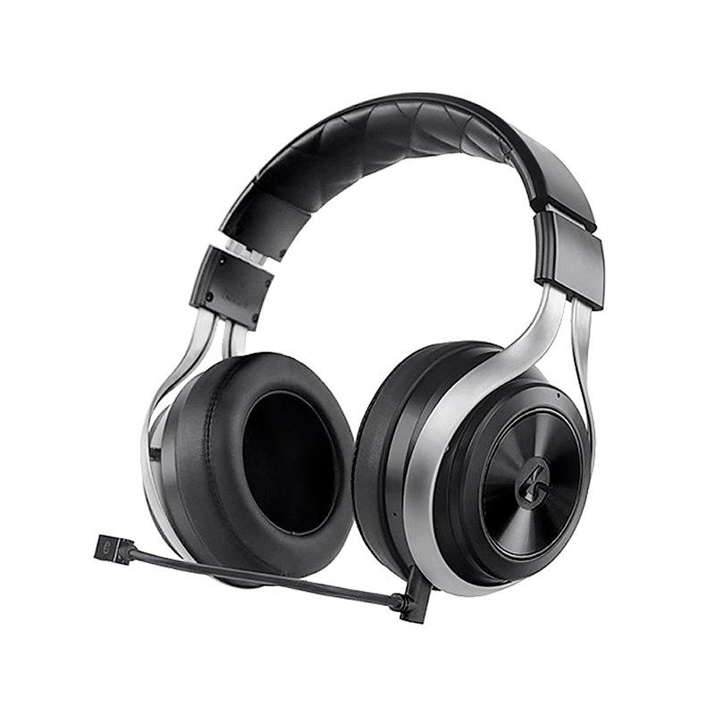Wireless gaming headset with mic monitoring