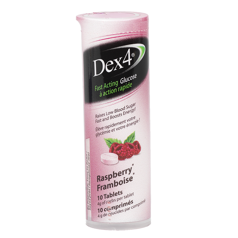 Dex 4 Glucose Tablets - Raspberry - 10's