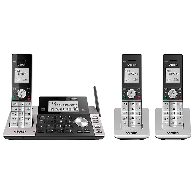 Vtech 3 Handset Cordless Digital Answering System - Black - DS5151-3