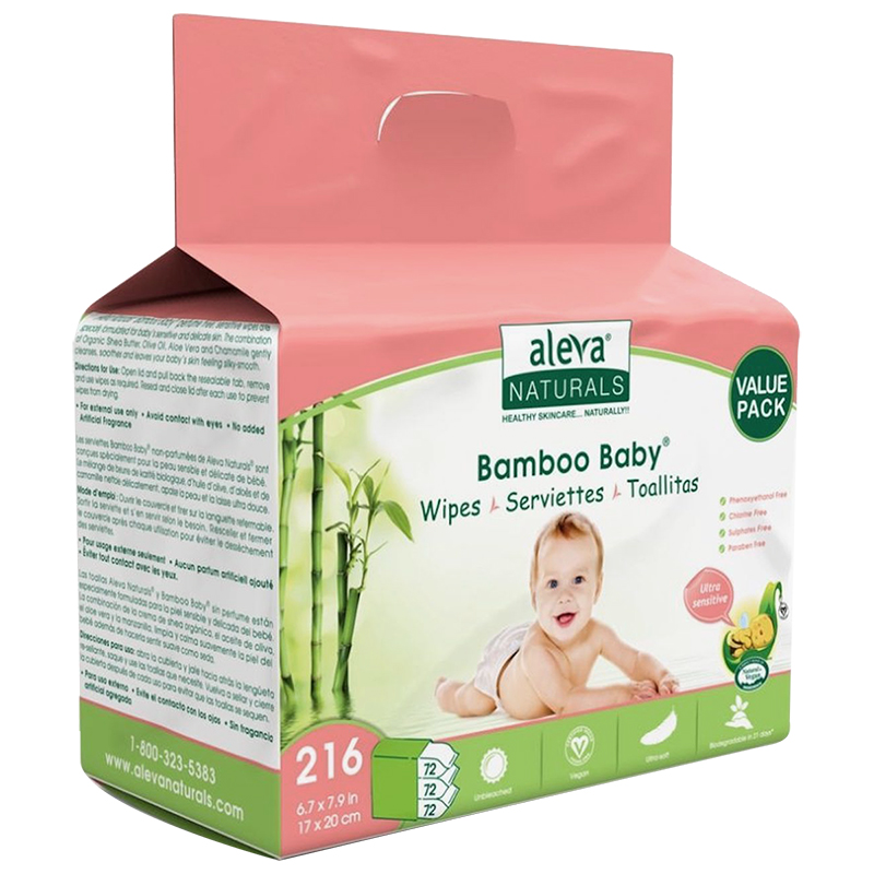 Bamboo Baby Wipes - Sensitive Skin - 216's