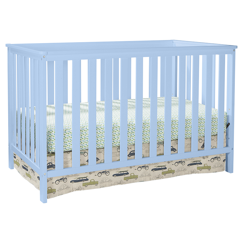Storkcraft Rosland 3-in-1 Convertible Crib - Sky Blue - 04510-23S