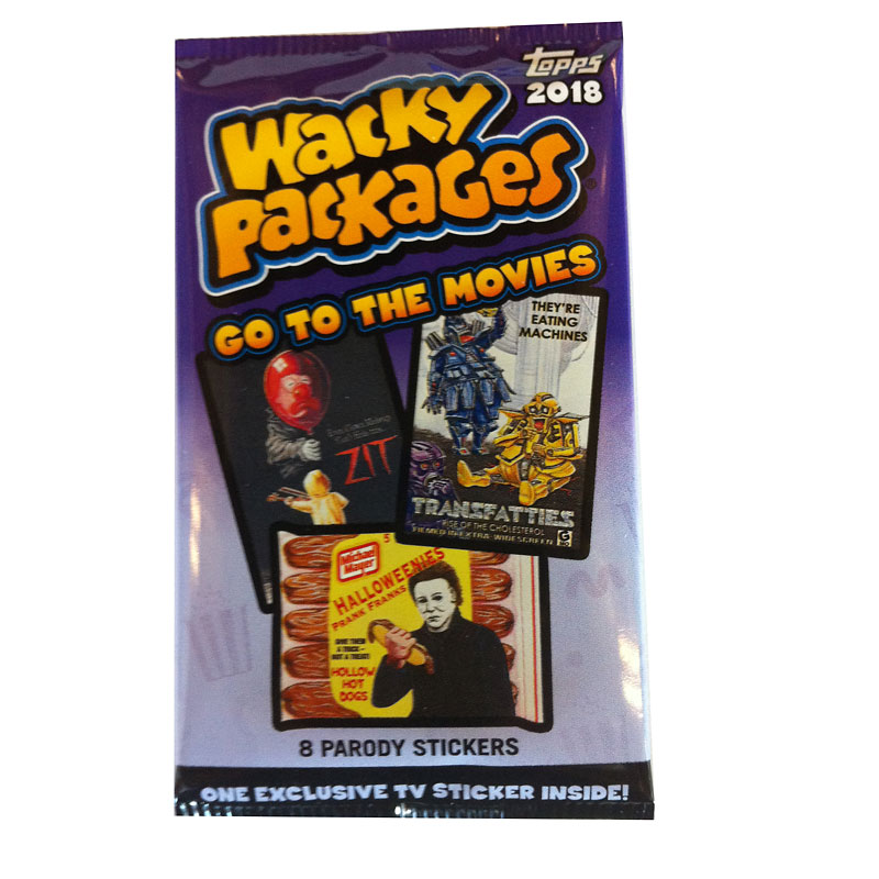 2018 Wacky Package Go to the Movies Parody Stickers