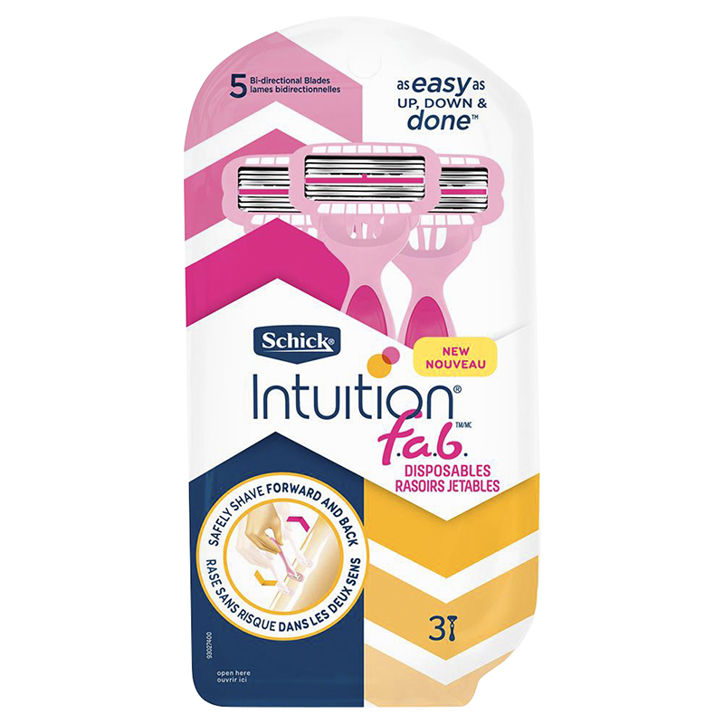 Schick Intuition f.a.b. Disposable Razors - 3's