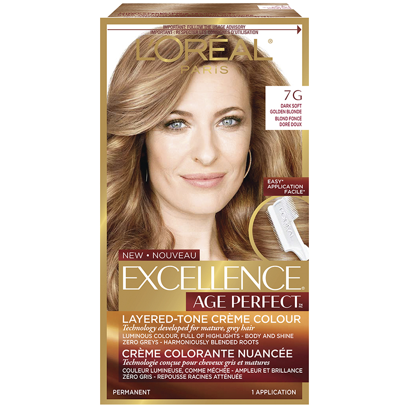 L'Oreal Excellence Age Perfect Creme Colour - 7G Dark Soft Golden Blonde