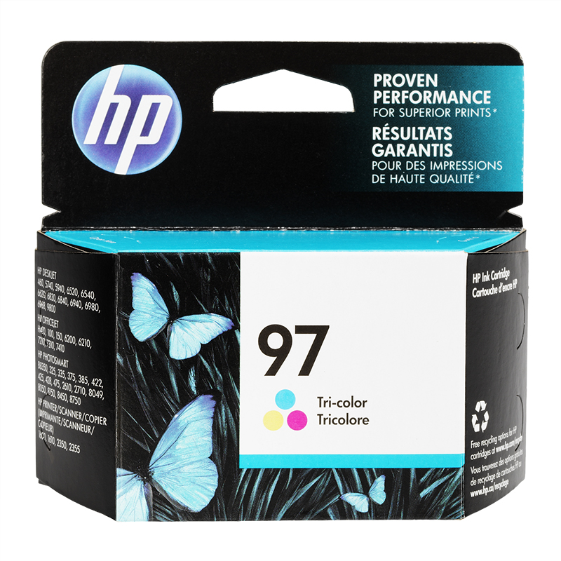 HP 97 Vivera Ink Cartridge - Tri-Colour - C9363WN