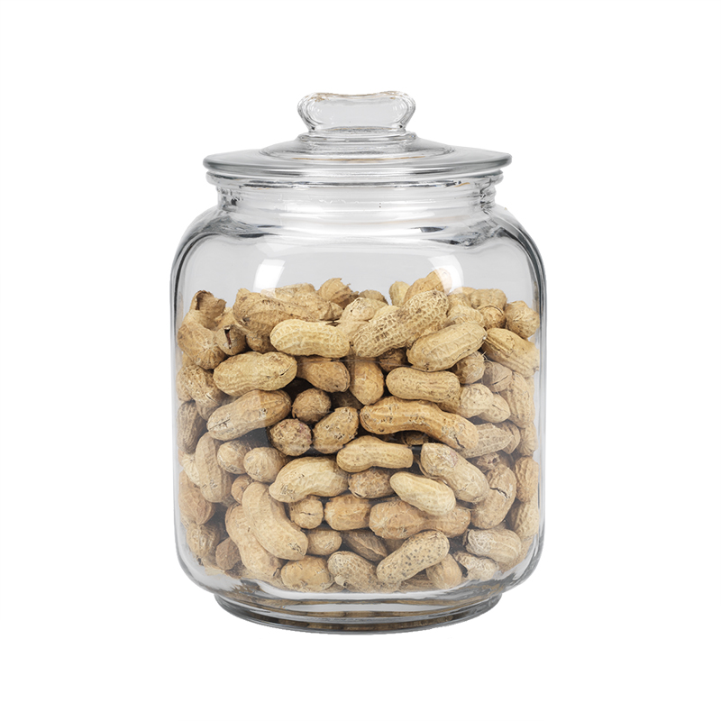 Peanut Embossed Glass Jar - 3.3L