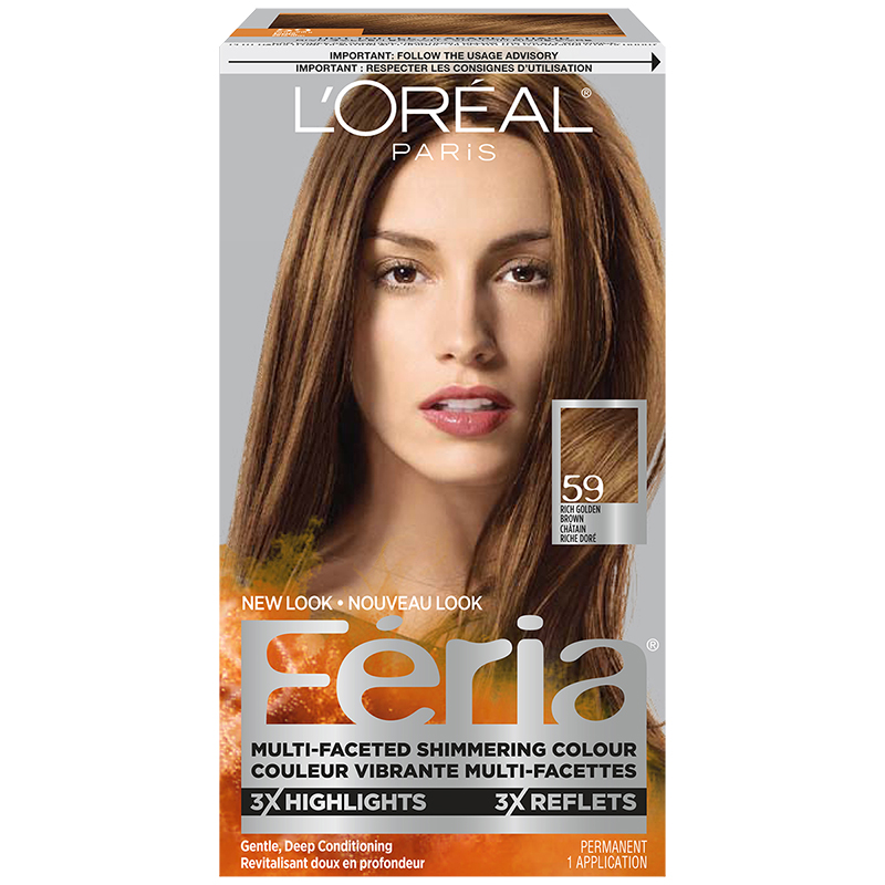 Loreal Feria Hair Colour 59 Rich Golden Brown London Drugs