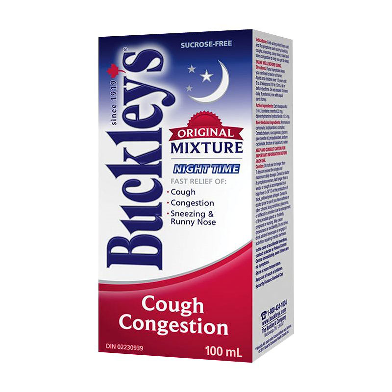Buckley's Original Mixture Nighttime - Cough Congestion - 100ml