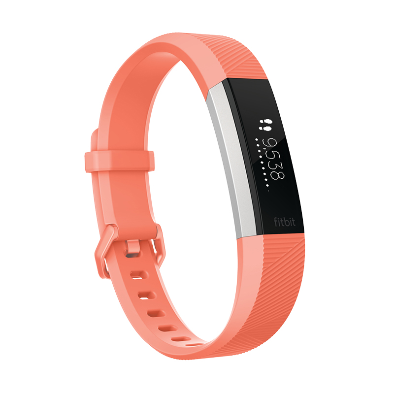 Fitbit Alta HR Fitness Tracker - Coral - Large