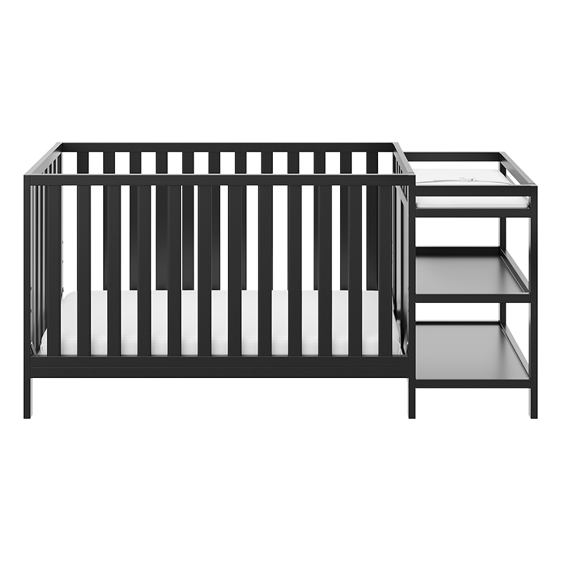 Storkcraft Pacific 4-in-1 Convertible Crib And Changer - Black - 04585-10B