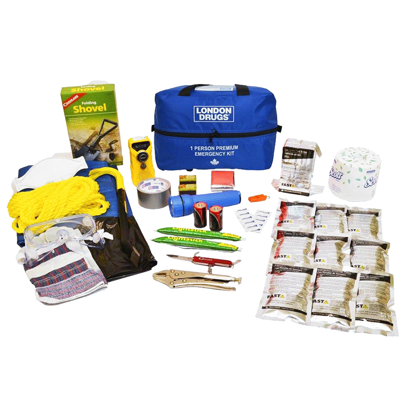 London Drugs Premium Home Emergency Kit - 1 person - EKIT1360.LD