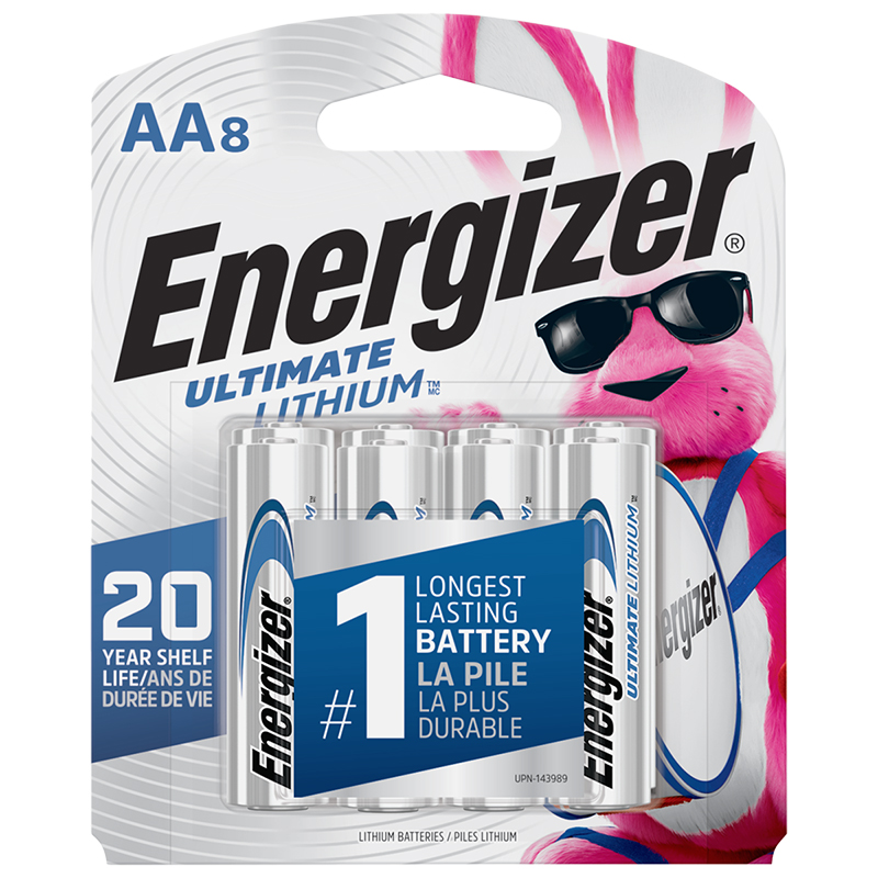 Energizer Ultimate Lithium AA Batteries - 8 Pack