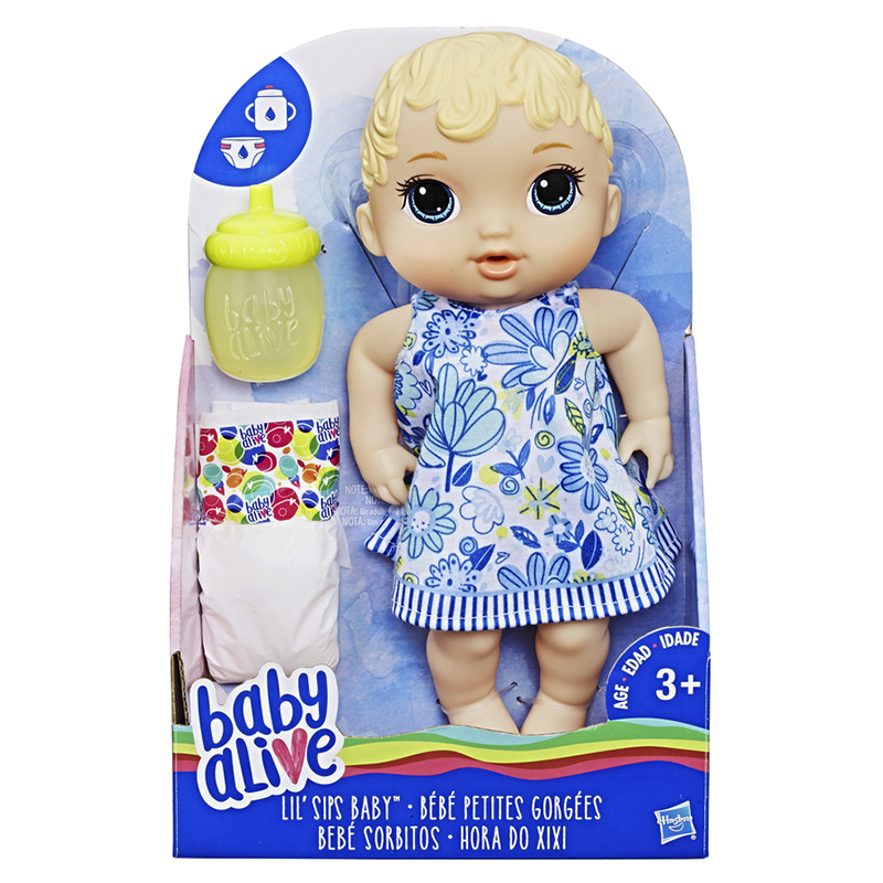 Baby Alive Sips Doll - Blonde