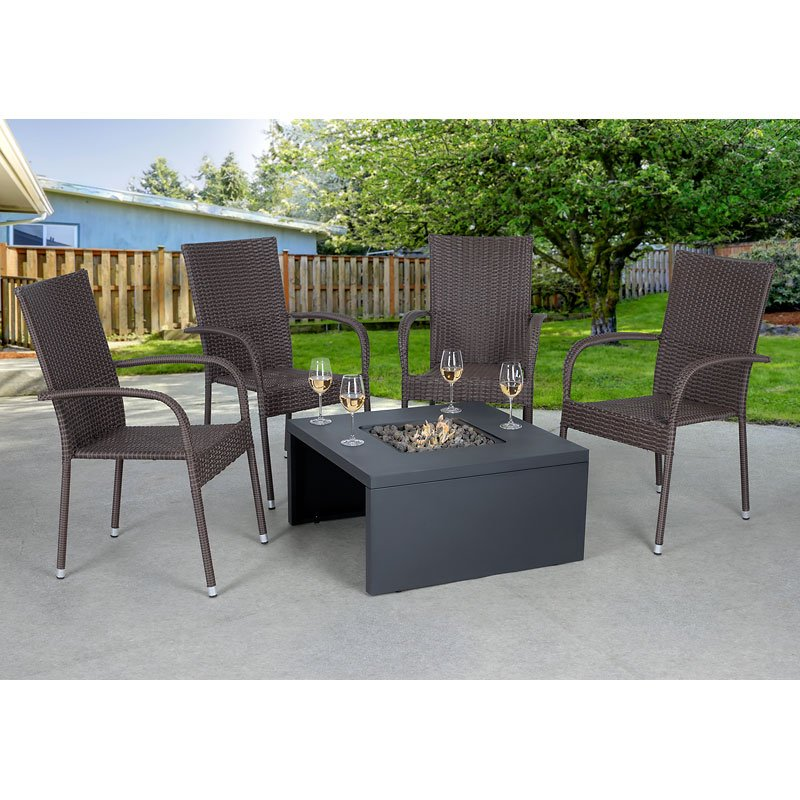 Outdoor Furniture Covers Near Me: Bond Rowley Fire Table With Lid And Cover