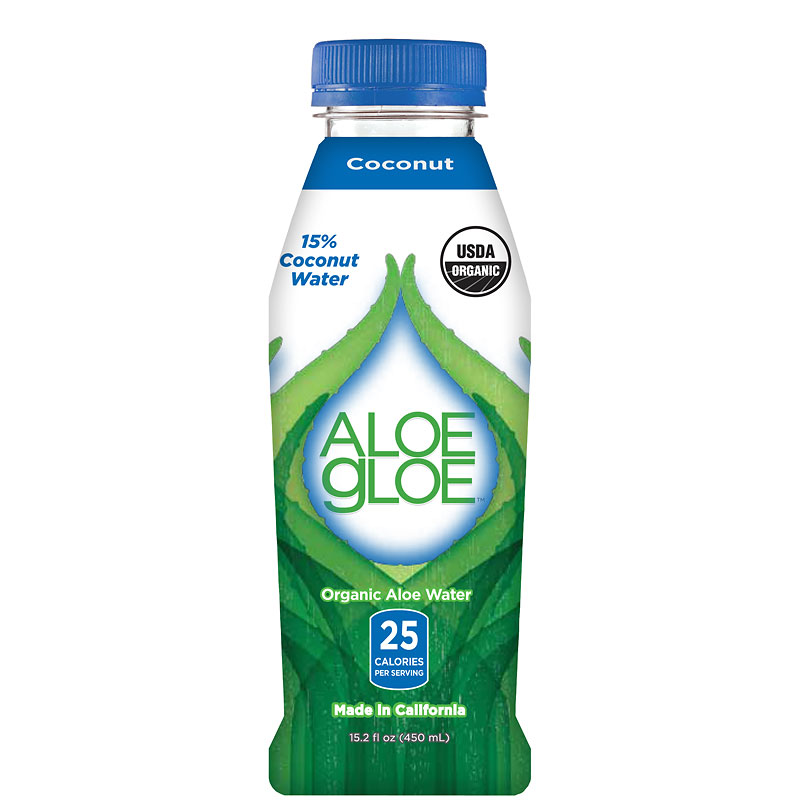 Aloe Gloe Organic Coconut Water - 450ml
