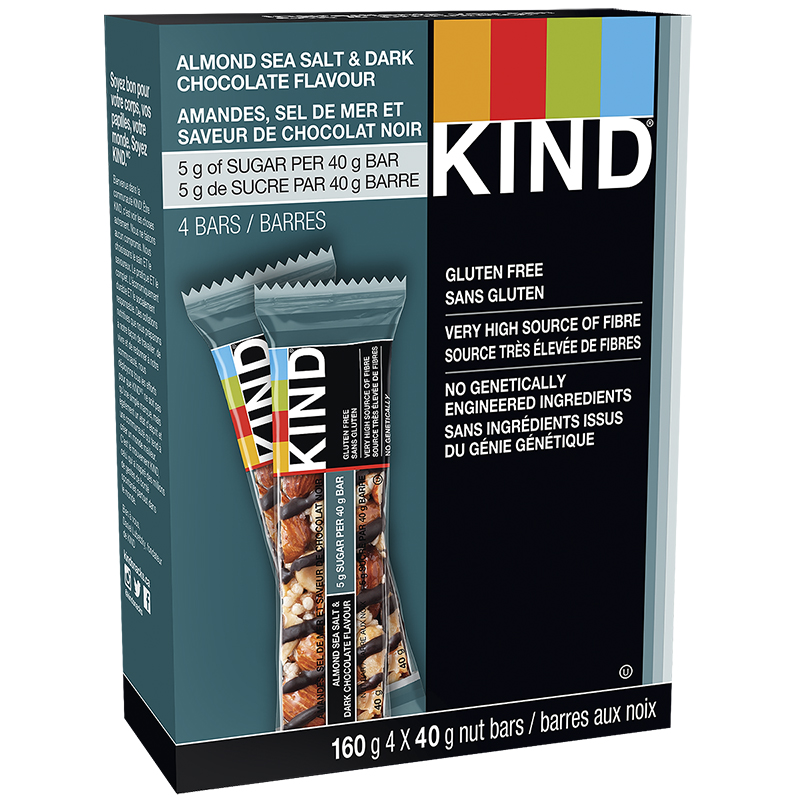 Kind Bar - Almond, Sea Salt & Dark Chocolate - Gluten Free - 4 pack/160g