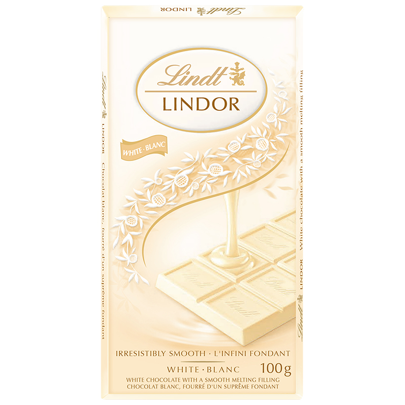 Lindt Lindor Bar - White Chocolate - 100g
