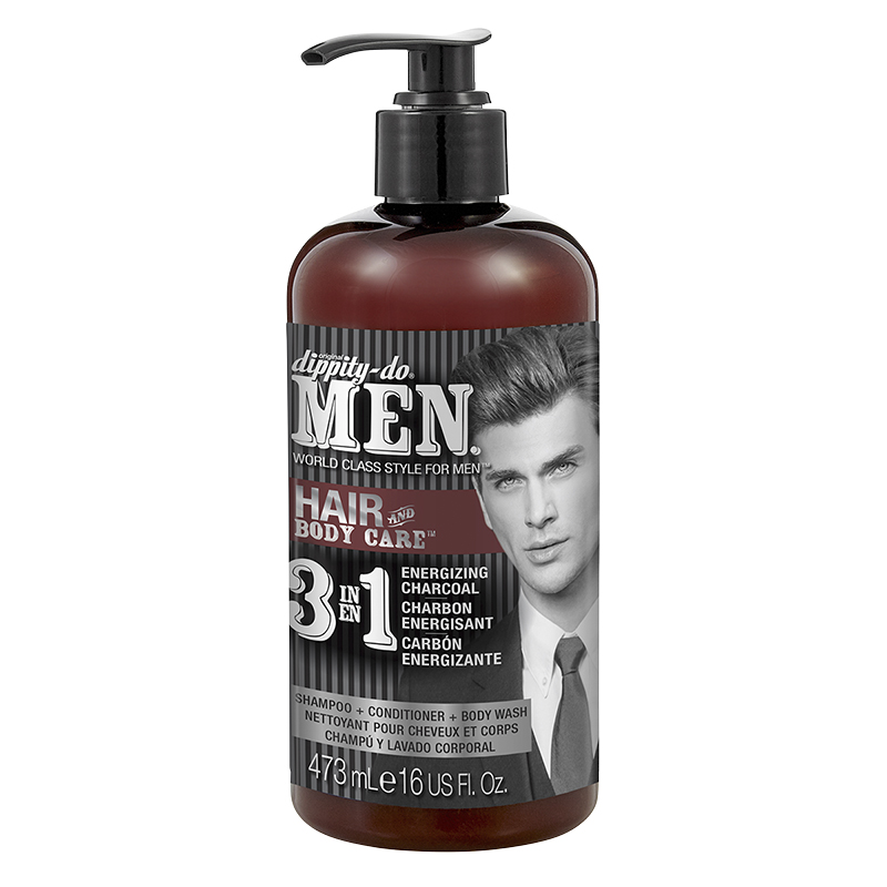Dippity-Do Men 3 In 1 Shampoo Conditioner & Bodywash - 473ml