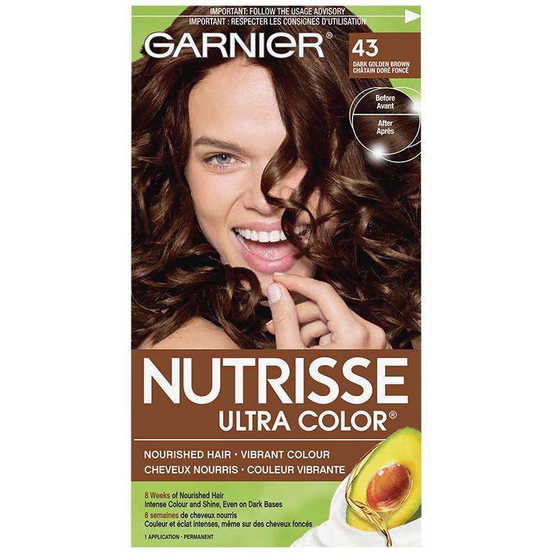 Garnier Nutrisse Ultra Color Permanent Hair Colour - 43 Dark Golden Brown
