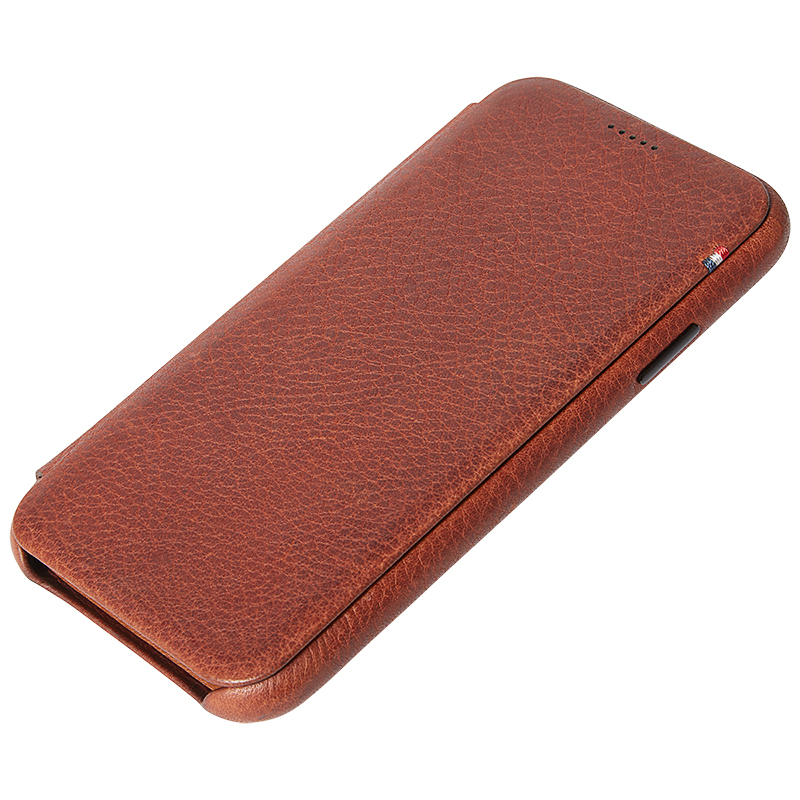 Decoded Slim Leather Wallet Case for iPhone Xr - Brown - DCD8IPO61SW3CBN