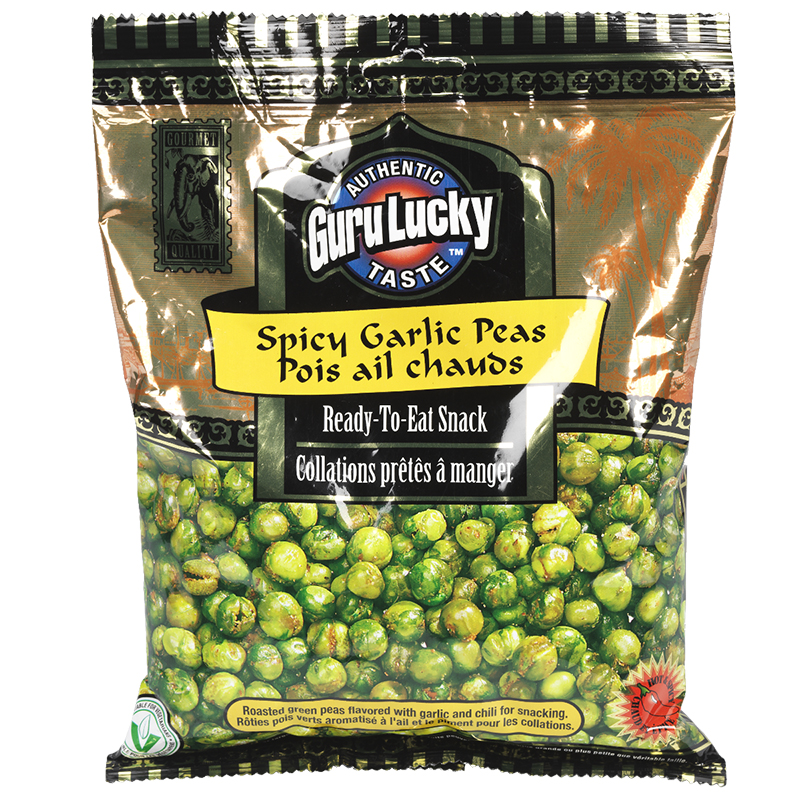 Guru Lucky Ready to Eat Snack - Spicy Garlic Peas - 341g