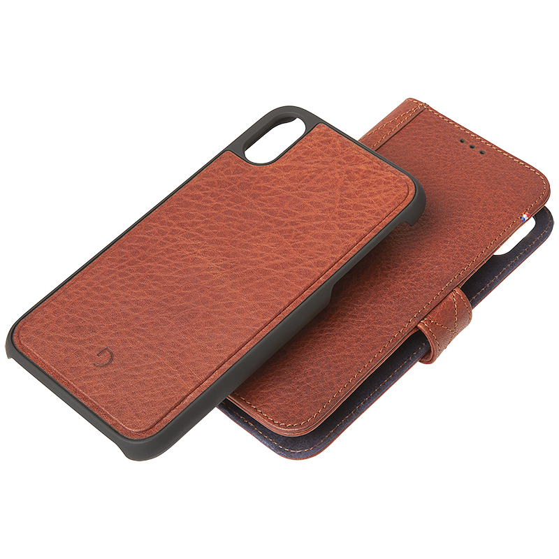 detailed look 60339 2d353 Decoded 2-in-1 Leather Wallet Case for iPhone Xr - Brown - DCD8IPO61DW1CBN