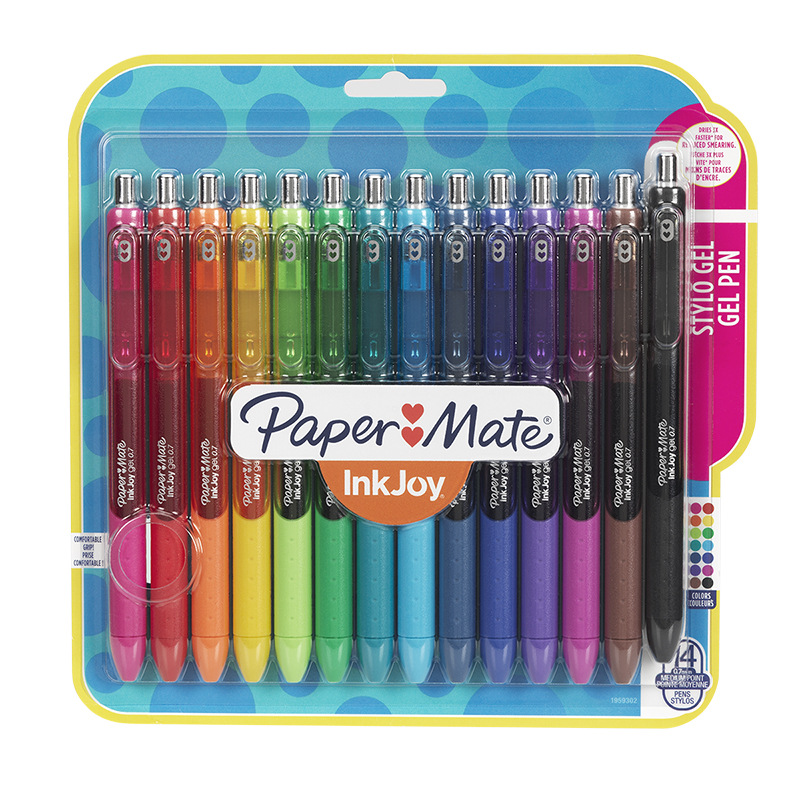 papermate ink joy gel pens medium assorted 14 pack london drugs
