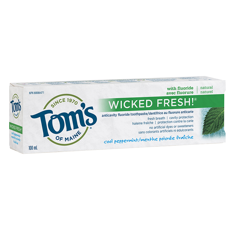 Tom's of Maine Natural Toothpaste Wicked Fresh - Cool Peppermint - 100ml