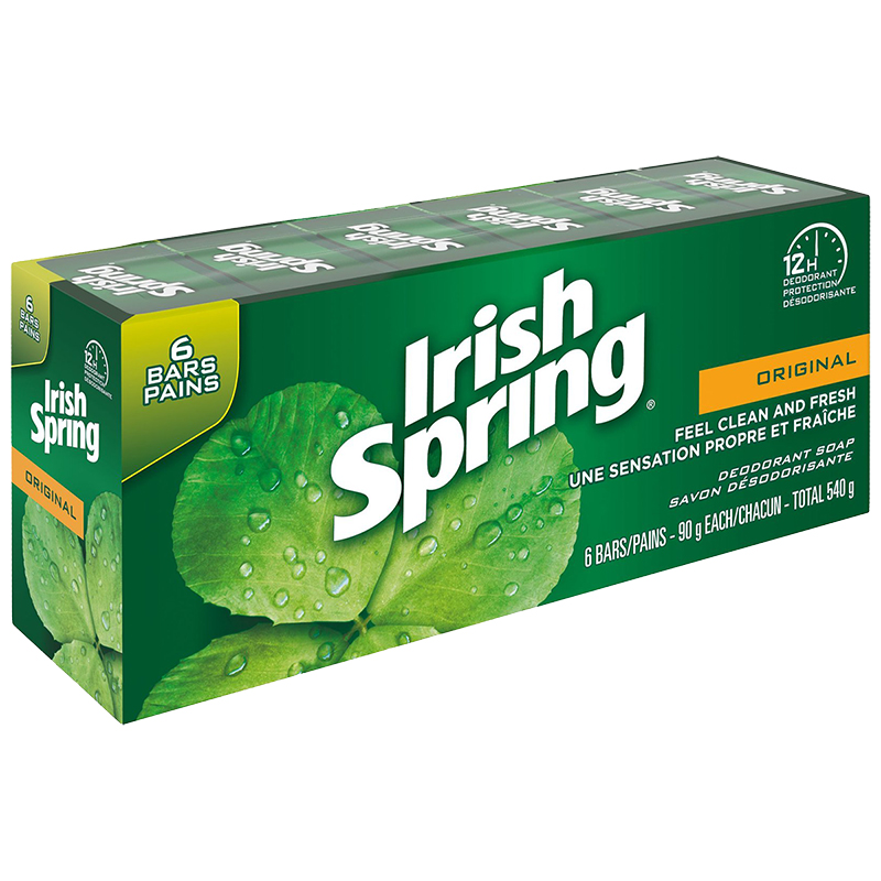 Irish Spring Soap Original 6 X 90g