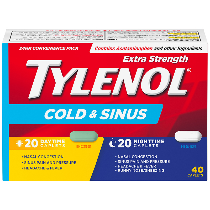 Tylenol* Extra Strength Daytime & Nighttime Cold & Sinus - 40's
