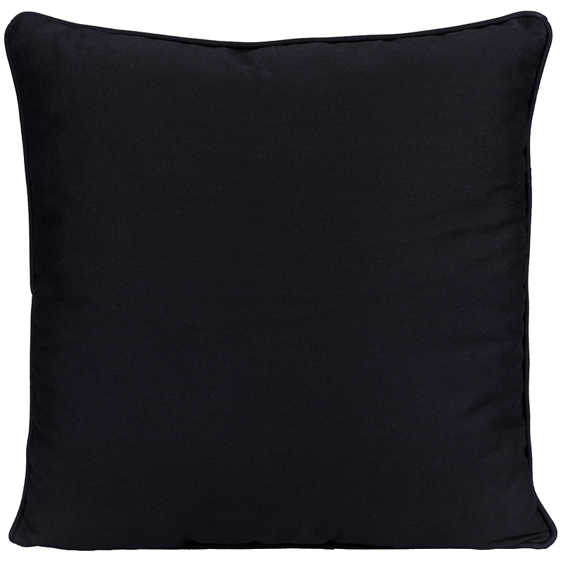 London Drugs Chair Cushion with Piping - Black