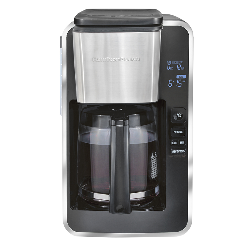 Hamilton Beach Programmable Coffee Maker - Black/Stainless - 46320