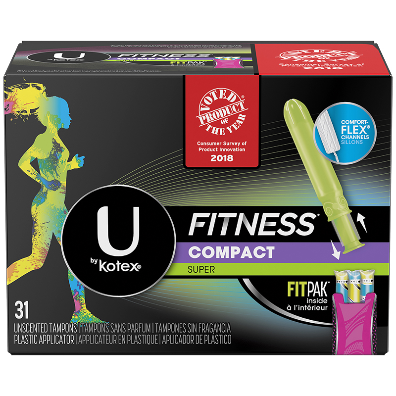U by Kotex Fitness Compact Tampons - Super - 31's