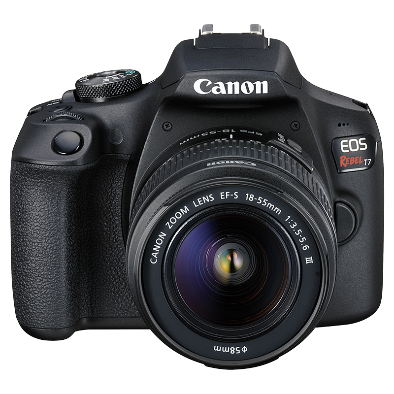 Canon EOS Rebel T7 with EF-S 18-55mm DC III Lens - Black - 2727C003