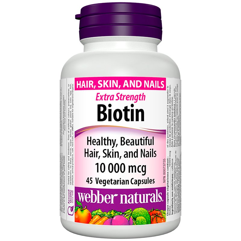 Webber Natural Extra Strength Biotin - 10,000mcg - 45's