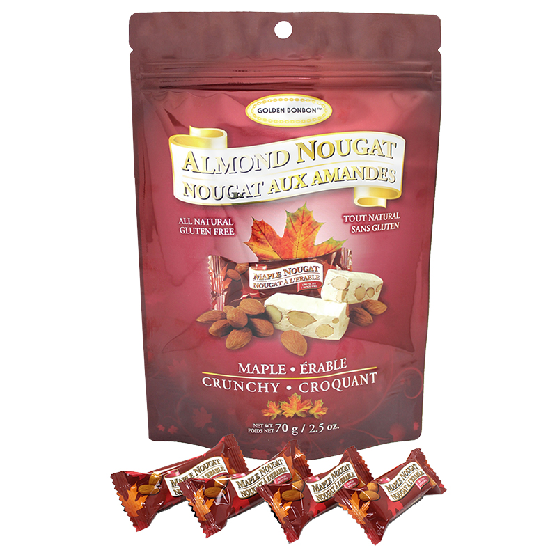 Golden Bonbon Crunchy Almond Nougat - Maple - 70g
