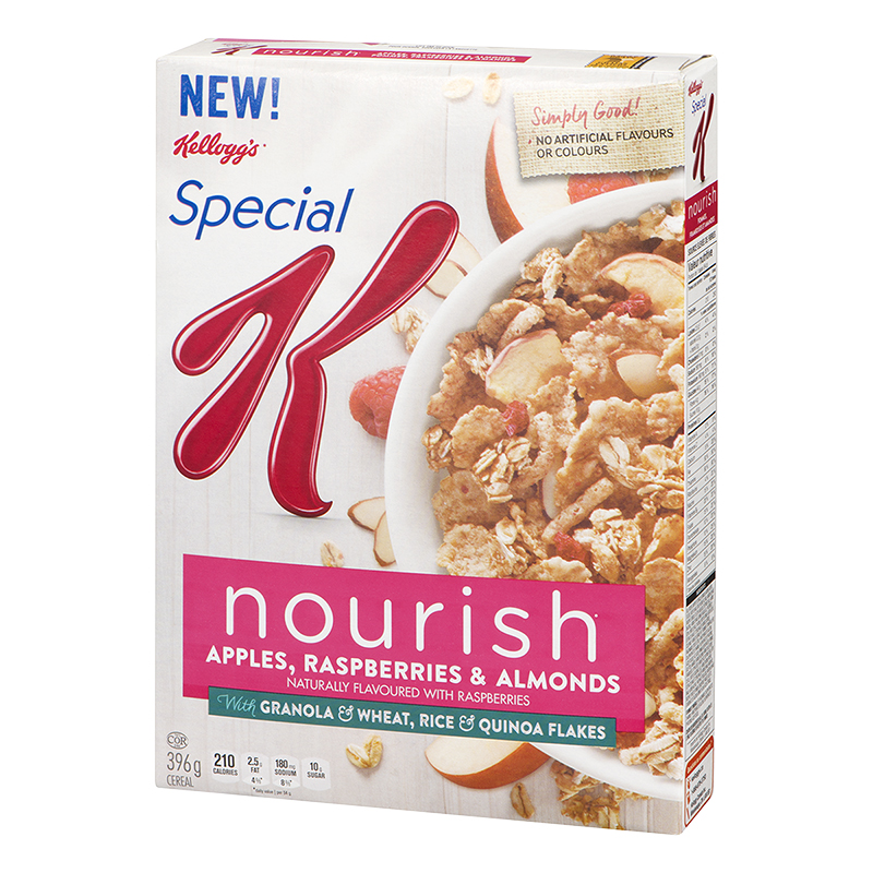 Kellogg's Special K Nourish Cereal - Apples, Raspberries & Almonds - 396g