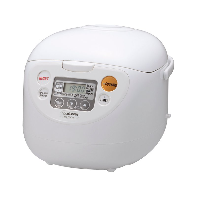 Zojirushi Rice Cooker - White - 10 cups - NS-WAC18