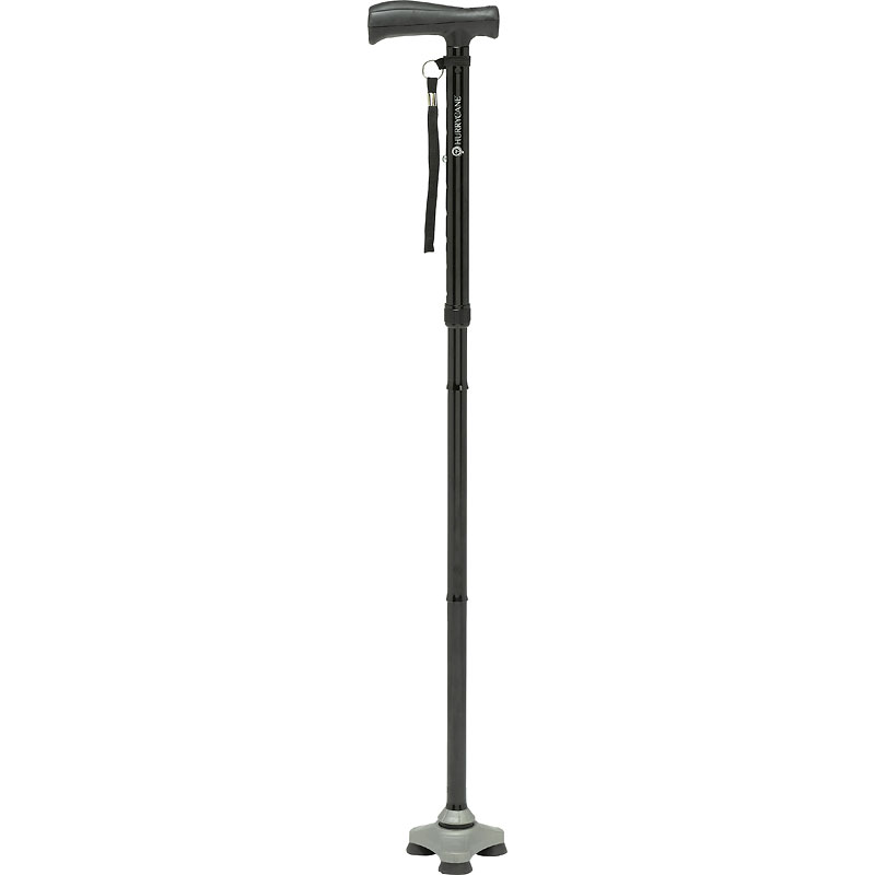 HurryCane Freedom Edition Folding Cane with T Handle - Black