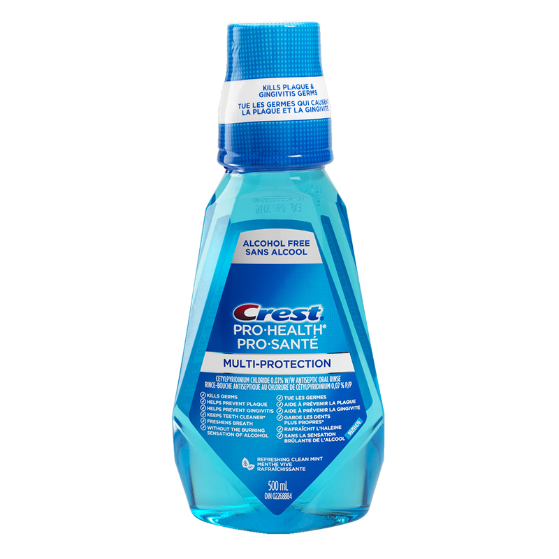 Crest Pro-Health Oral Rinse - Alcohol Free - Refreshing Clean Mint - 500ml