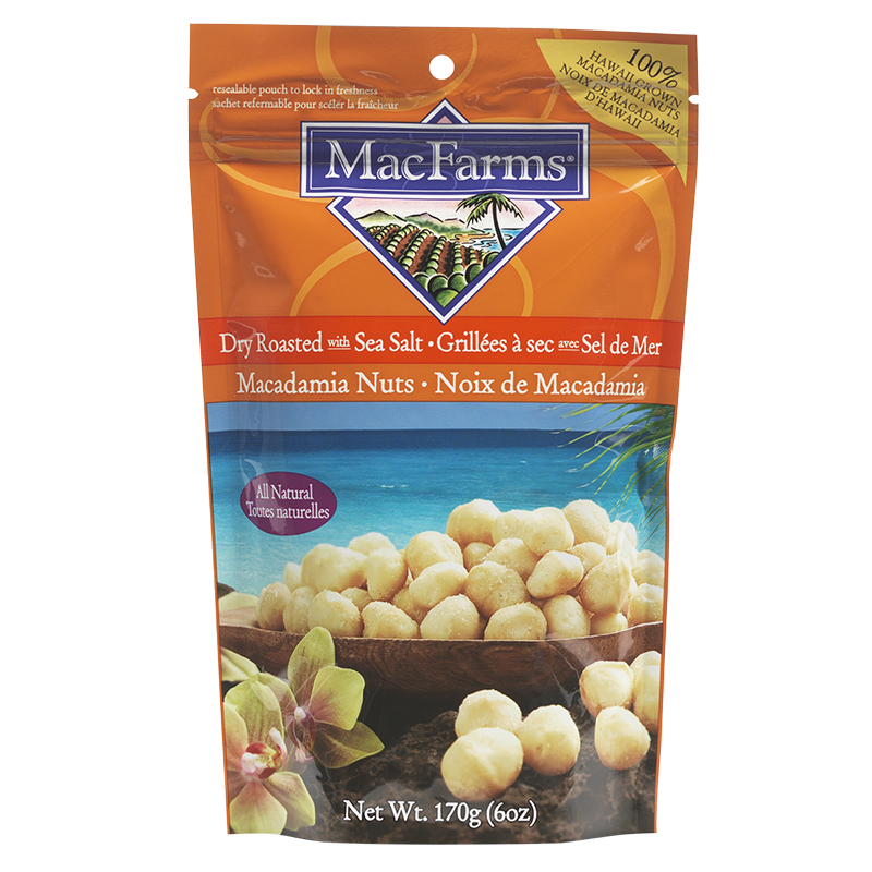 Macfarms Dry Roasted Macademia Nuts - Sea Salt