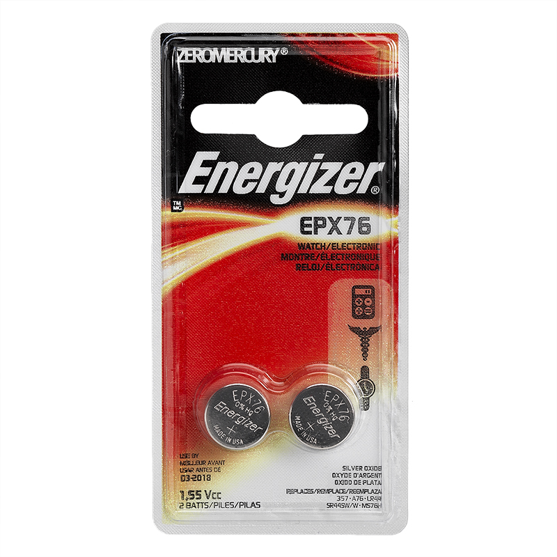 Energizer Watch Battery EPX76 1.55V - 2 Pack