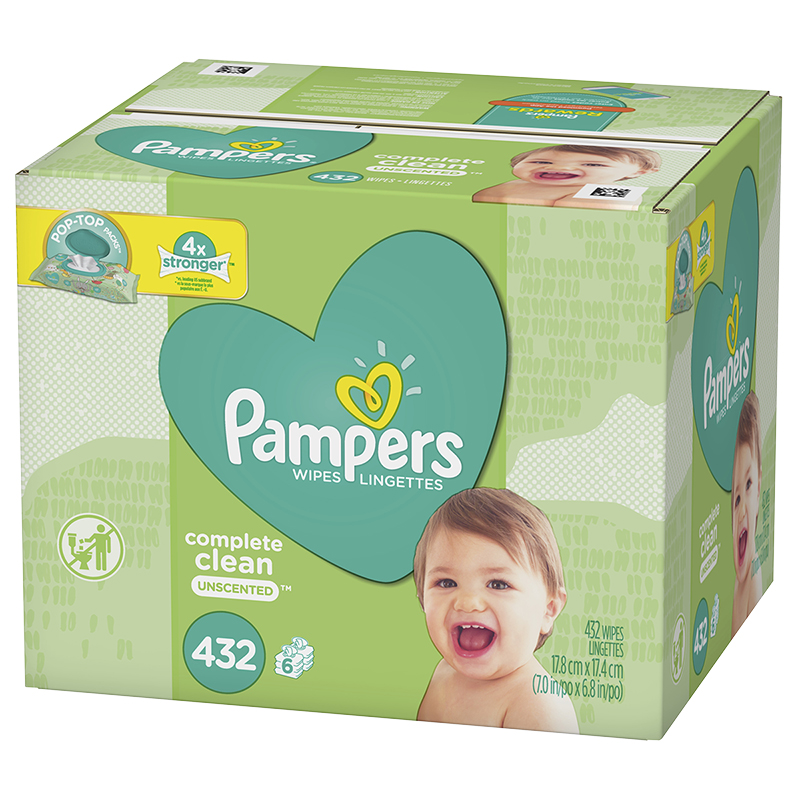Pampers Wipes Complete Clean - Unscented - 432's