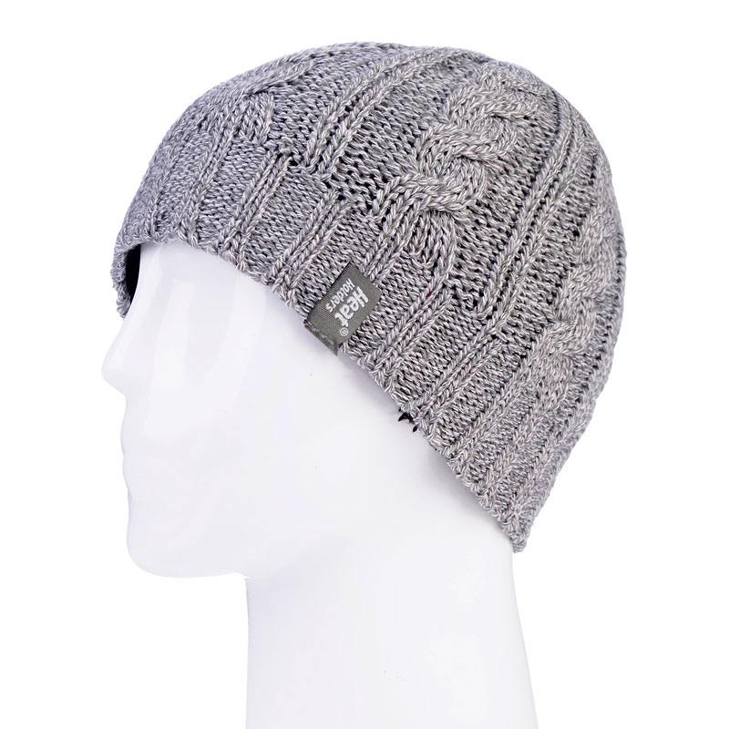 Heat Holders Ladies Cable Knit Hat - Grey - One Size